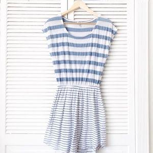 Splendid Blue & White Striped Mini Tunic Dress